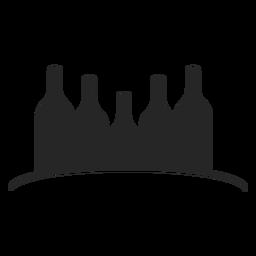 Garrafas de vinho ícone plana