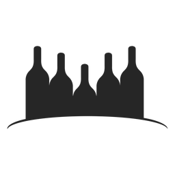 Wine bottles flat icon