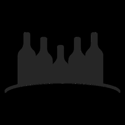 Garrafas de vinho ícone plana Transparent PNG