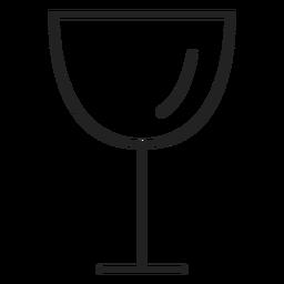 Ícone de bebida de ícone de copo de vinho