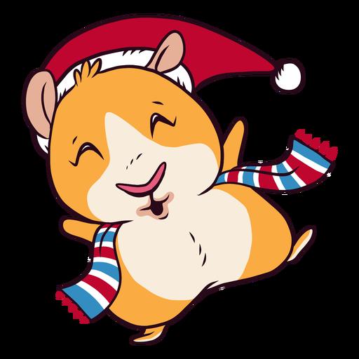 Vestido de invierno con dibujos animados de conejillo de indias Transparent PNG