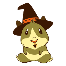 Witch guinea pig cartoon