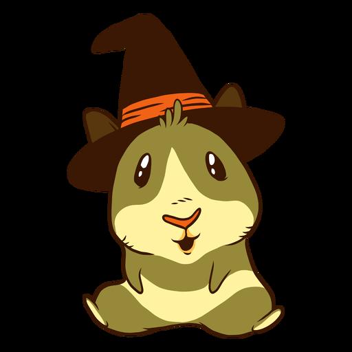 Witch guinea pig cartoon Transparent PNG