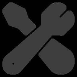 Ícone de chave inglesa e chave de fenda