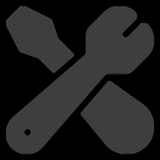 Icono de llave inglesa y destornillador