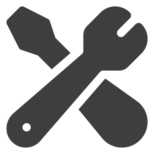 Wrench and screwdriver icon Transparent PNG
