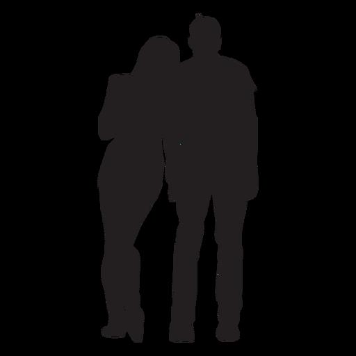 Pareja joven silueta pareja Transparent PNG