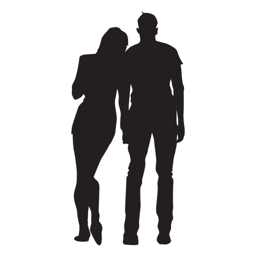 Young couple silhouette couple Transparent PNG