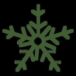 Einfache Schneeflocke-Symbol