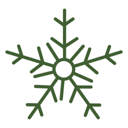 Simple snowflake icon