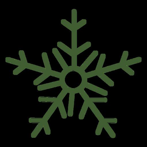 Icono de copo de nieve simple Transparent PNG