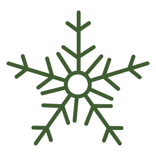 Simple snowflake icon Transparent PNG
