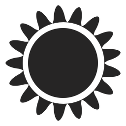 Ícone de gráficos do sol
