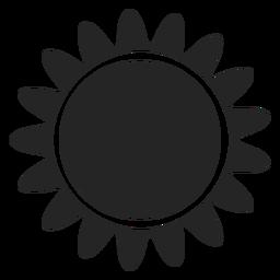 Icono de gráficos de sol