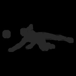 Silueta de posición de excavación de voleibol