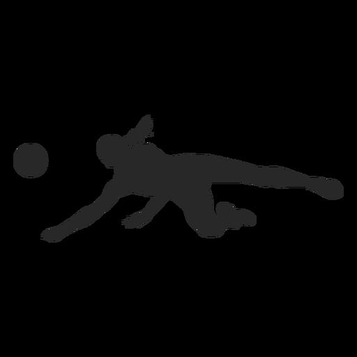 Silhueta de posição de voleibol Transparent PNG