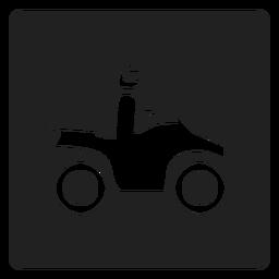 Hombre montando una moto icono cuadrado moto
