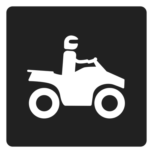 Man riding a motorbike square icon motorbike Transparent PNG