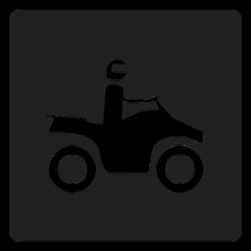 Man riding a motorbike square icon motorbike