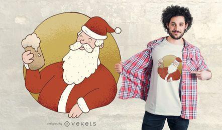 Cerveja Santa T-Shirt Design
