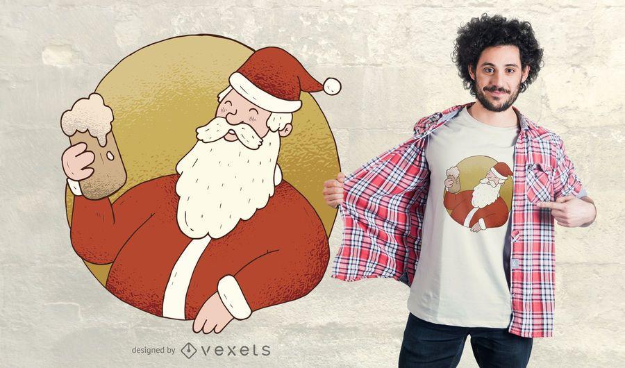 Cerveza Santa Diseño de camiseta