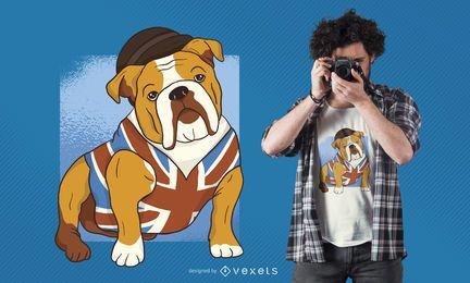 Design de camisetas do Bulldog Britânico