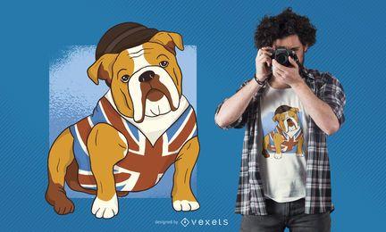 Diseño de camiseta de bulldog británico