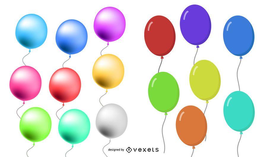 Conjunto de globos de colores