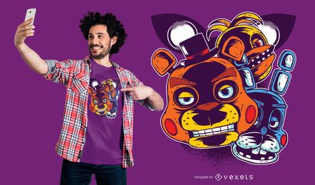 Projeto do t-shirt do jogo de Freddys