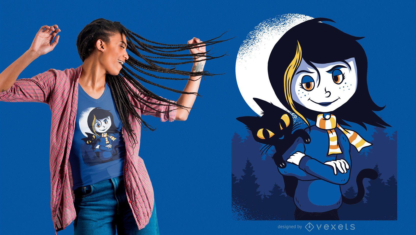 Ilustração de Coraline