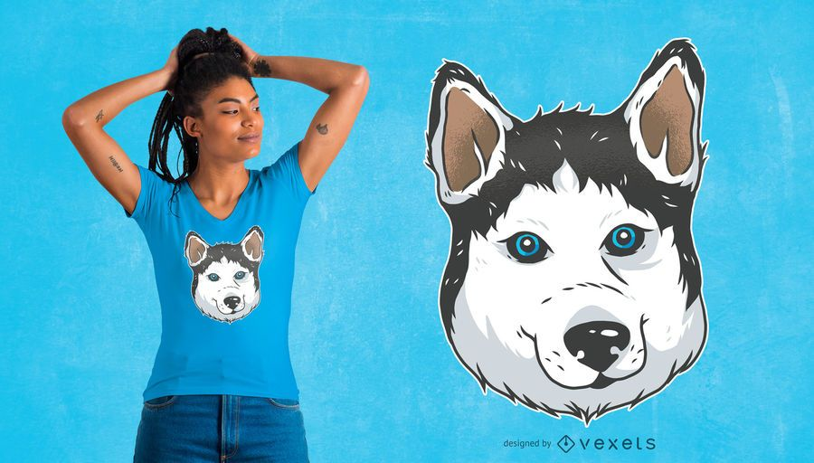 Husky Illustration Design de t-shirt