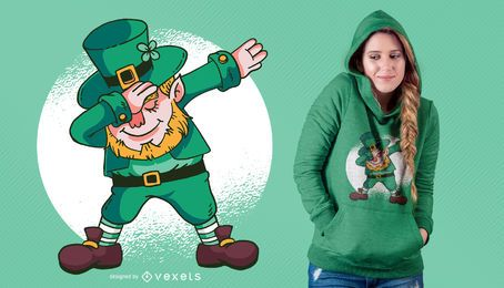Dabbing Leprechaun Design T-Shirt