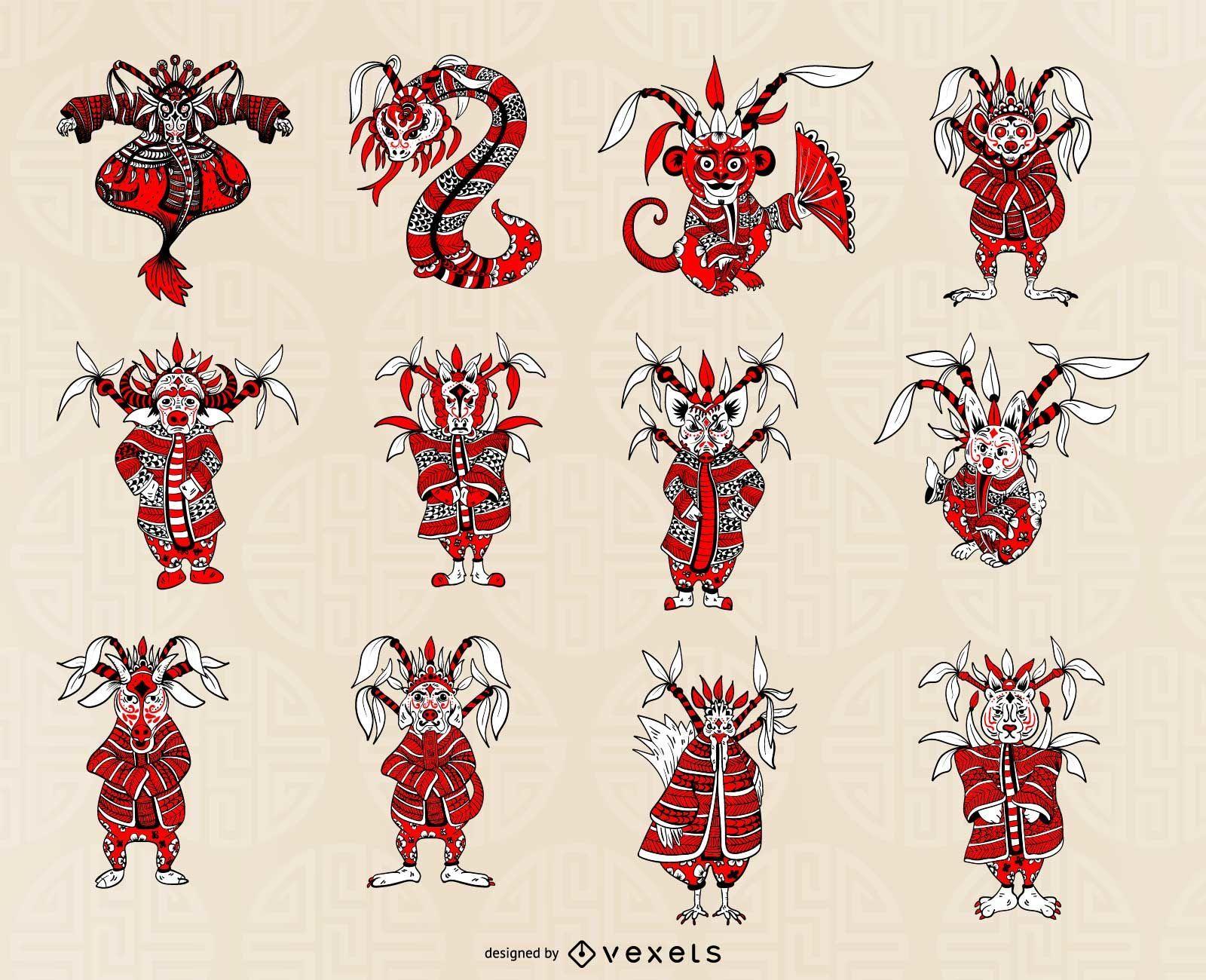Chinese Horoscope Set