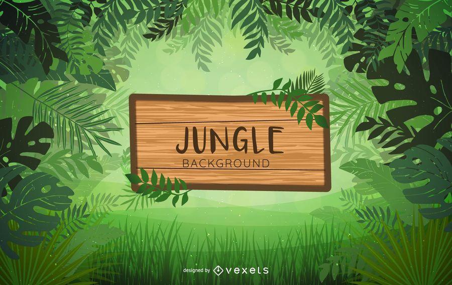 Diseño del fondo de la etiqueta de la selva