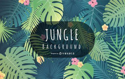 Diseño de fondo de la selva tropical