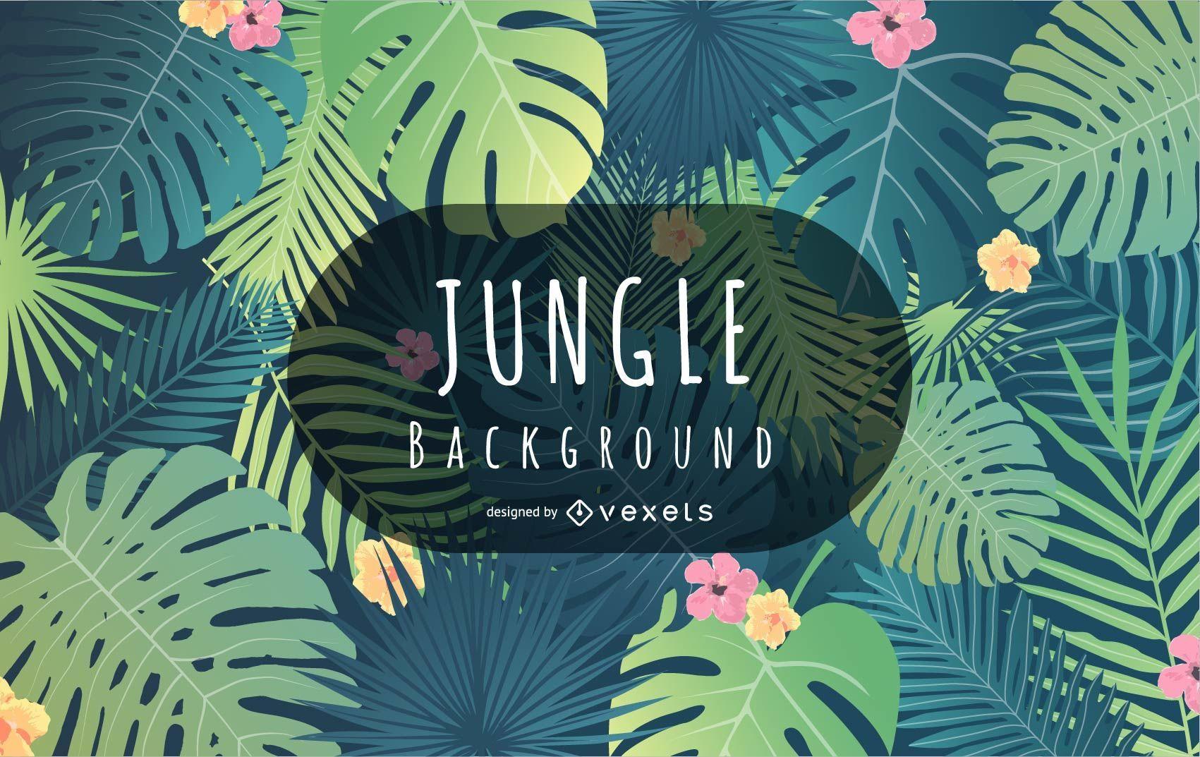 Tropisches Dschungel-Hintergrunddesign