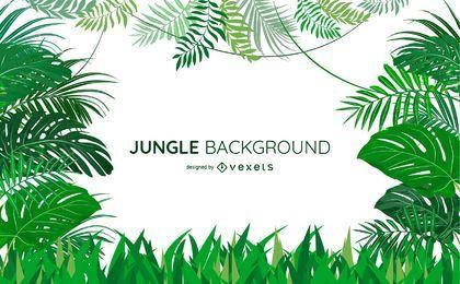 Dschungel verlässt Hintergrunddesign