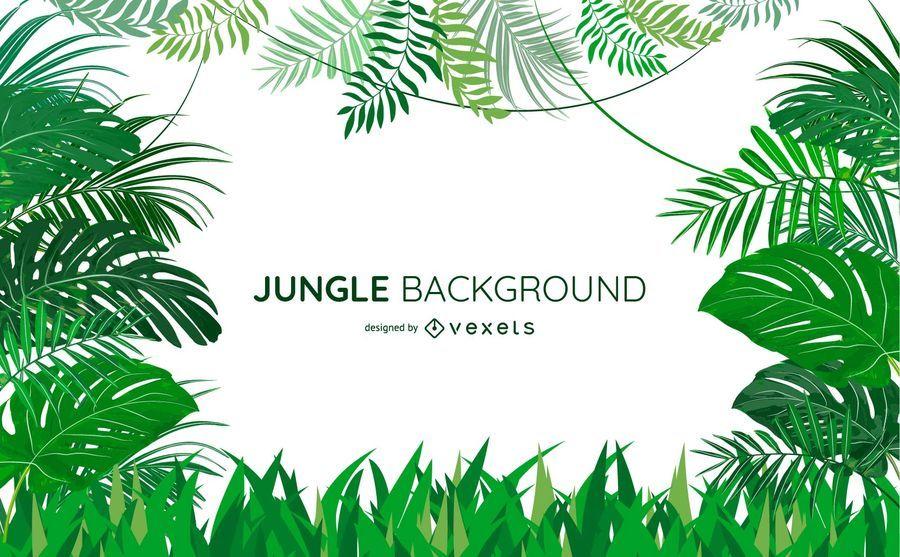 Jungle leaves background design