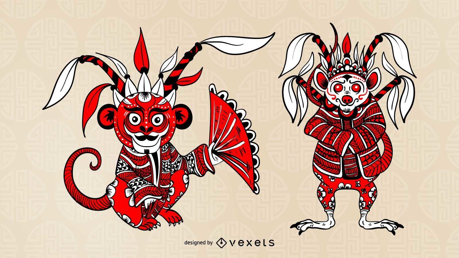Chinese Opera Character Set