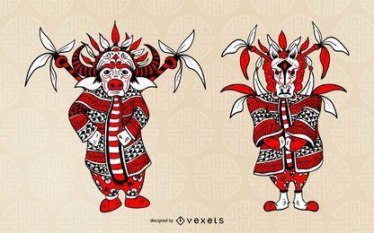 Carácter de la ópera del zodiaco chino