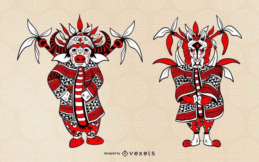 Chinese Zodiac Opera Character