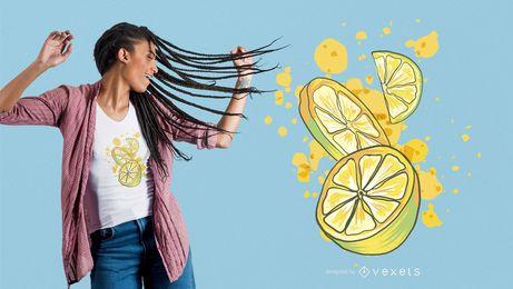 Zitronen-Kalk-T-Shirt Design