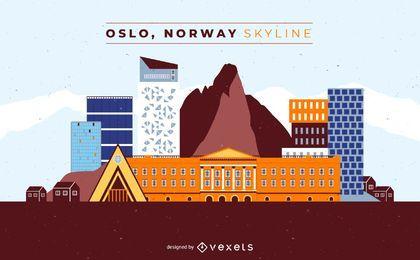 Oslo Norwegen Skyline