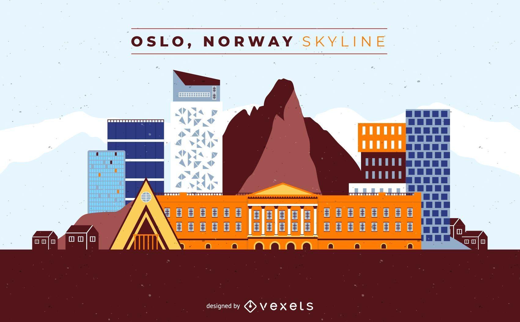Oslo Norway Skyline