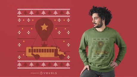 Diseño de camiseta de Navidad de Battlebus