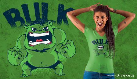 Design de t-shirt de urso verde em massa