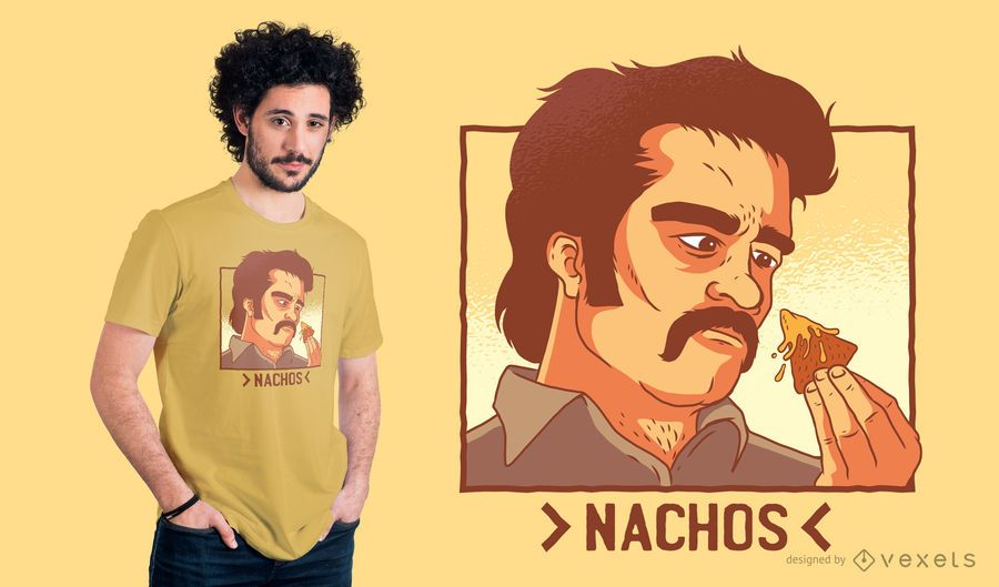 Nachos Drug Lord T-Shirt Design