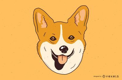 Netter Corgi-Illustrations-Entwurf
