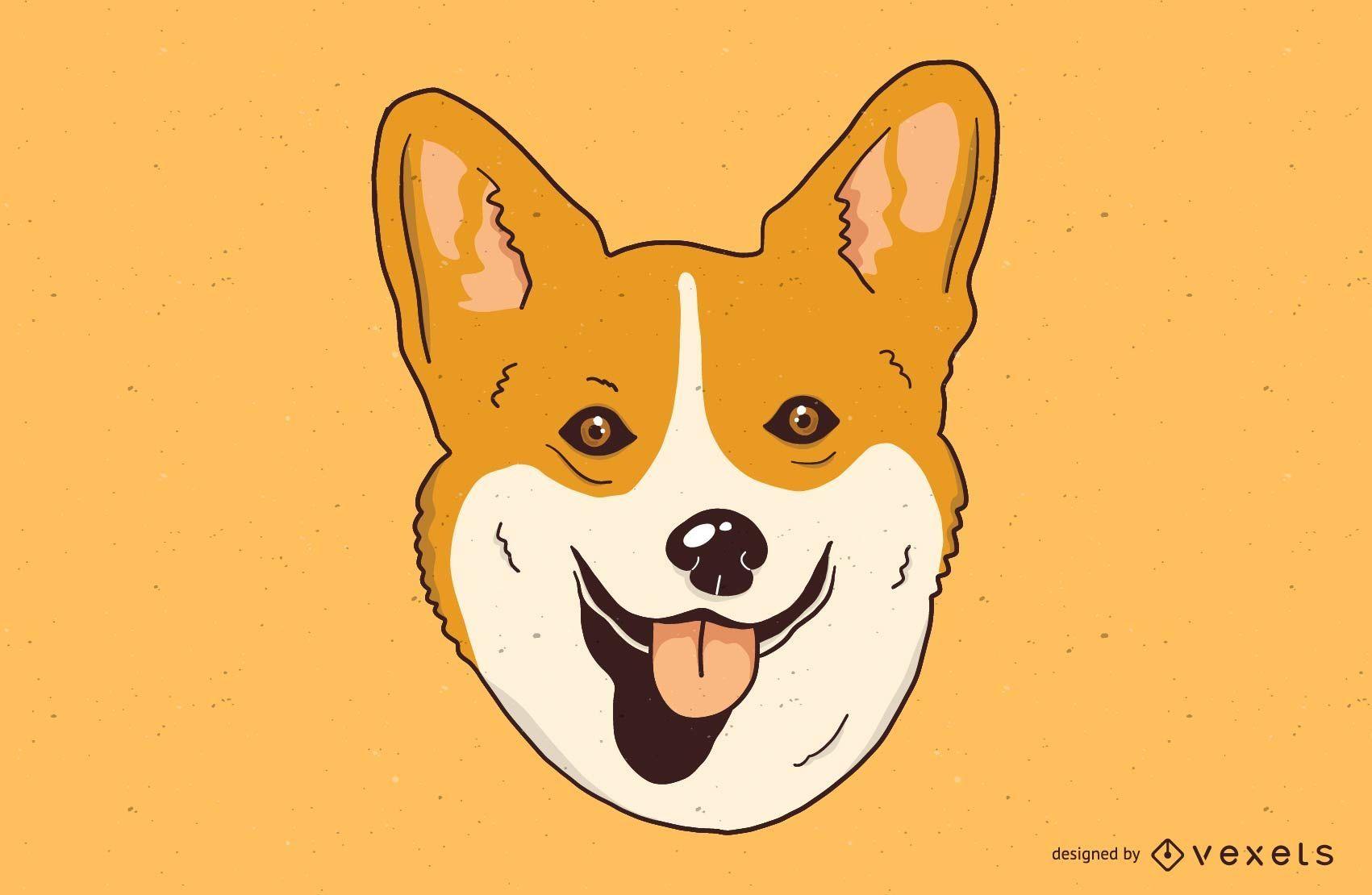 Cute Corgi Illustration Design