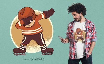 Ice Hockey Dabbing T-Shirt Design